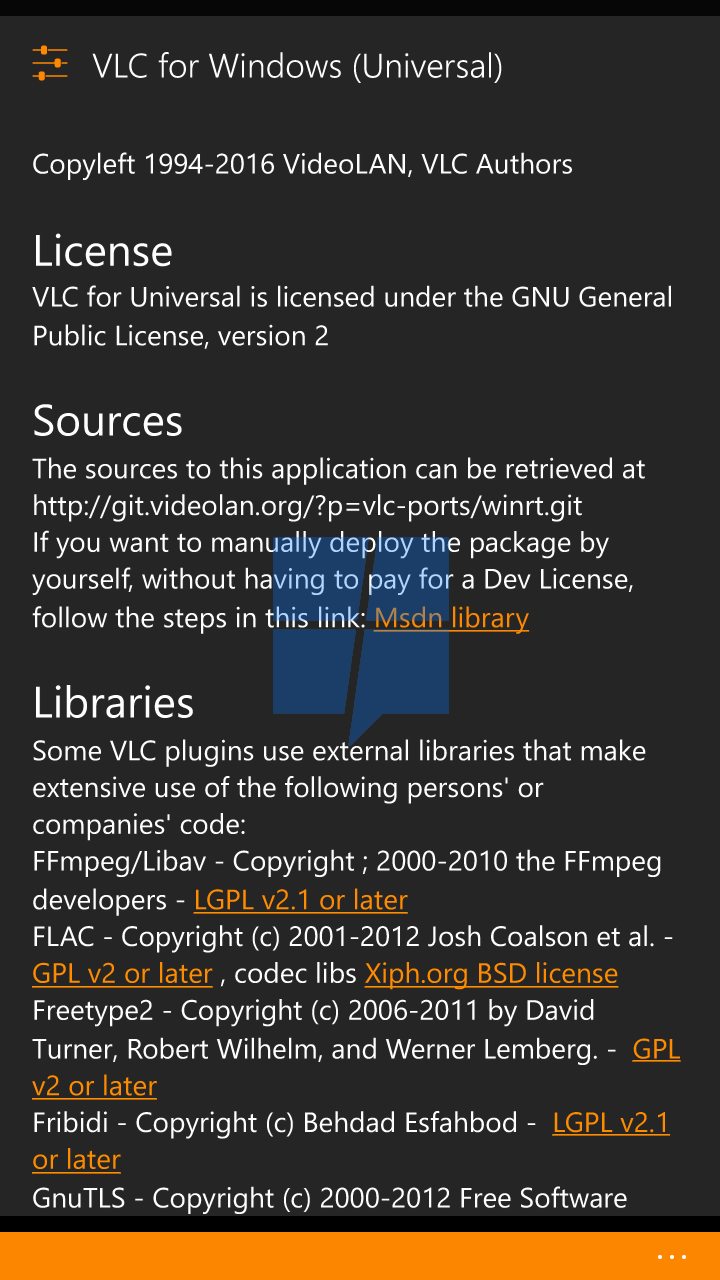 First look at VLC UWP app for Windows 10 Mobile 16