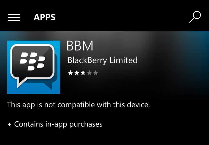Remember BBM? It's Windows Phone app is no longer available 8