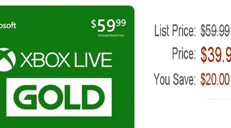xbox live deal