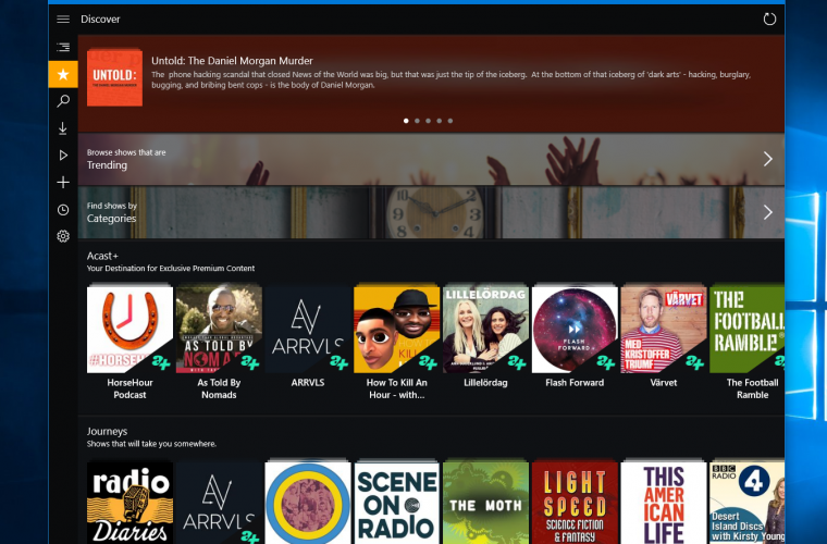 Acast for Windows 10 now available 2
