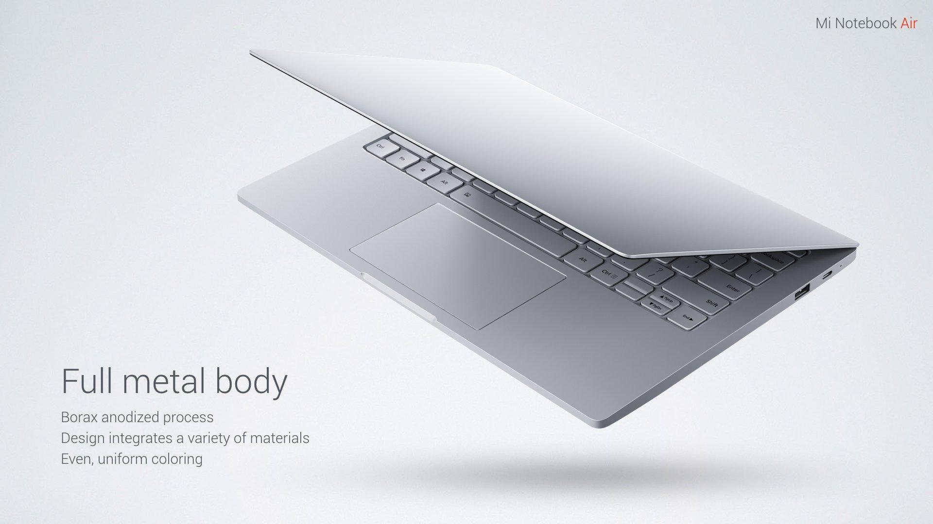 Xiaomi unveils the Mi Notebook Air, its Macbook Air killer 1