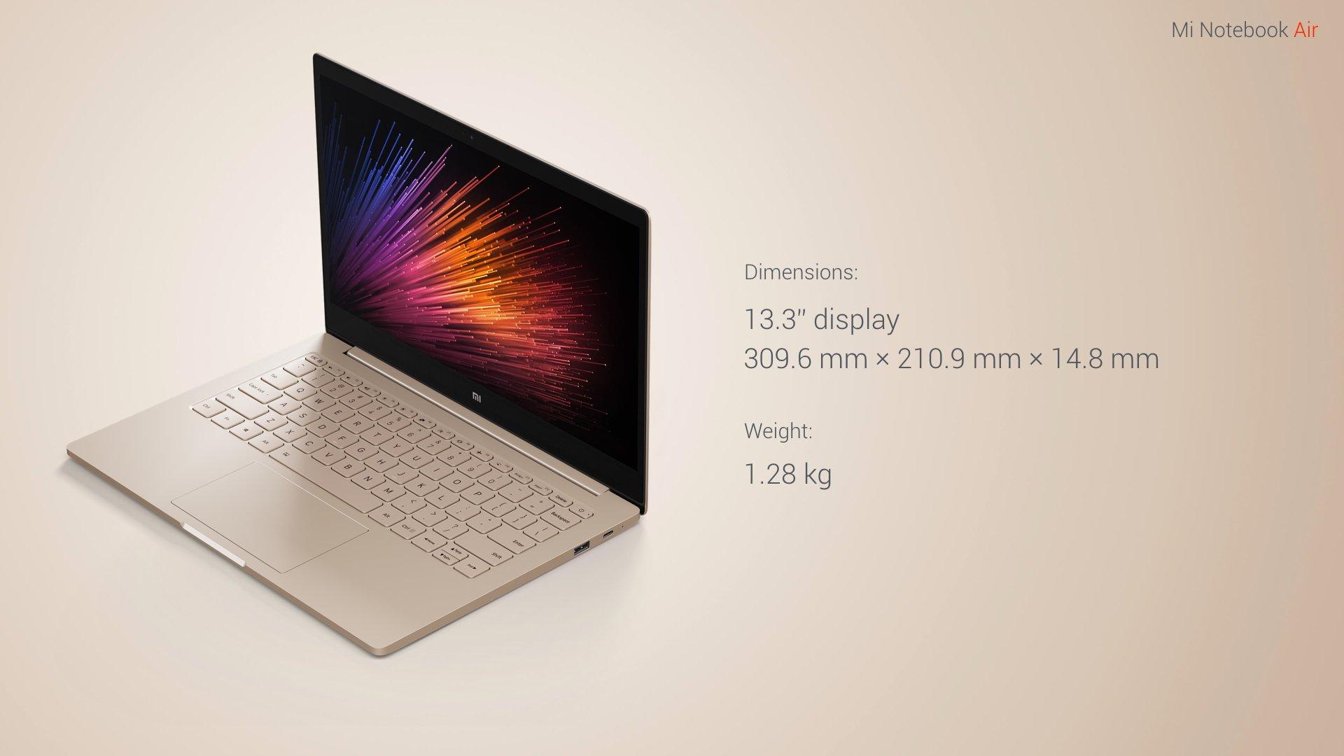 Xiaomi unveils the Mi Notebook Air, its Macbook Air killer 2