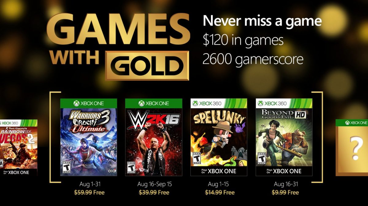 Games with Gold August