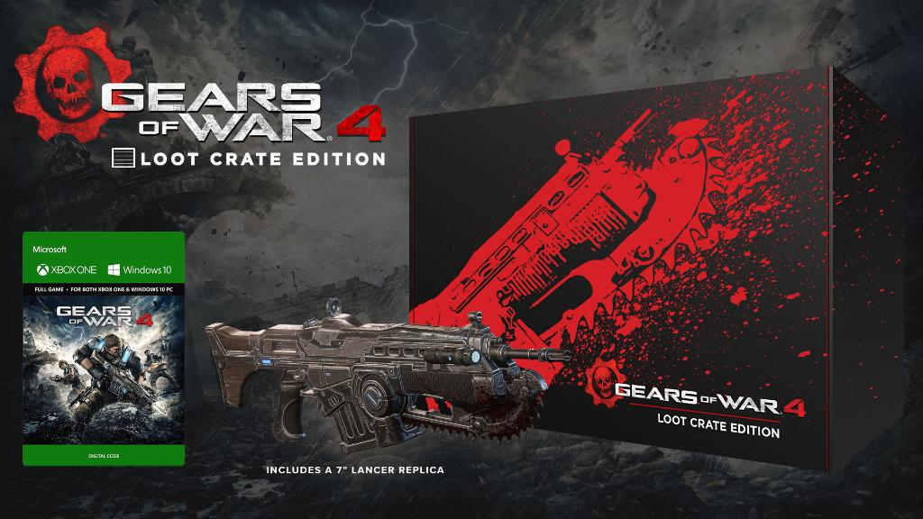Gears of War 4: Loot Crate Limited Edition Announced
