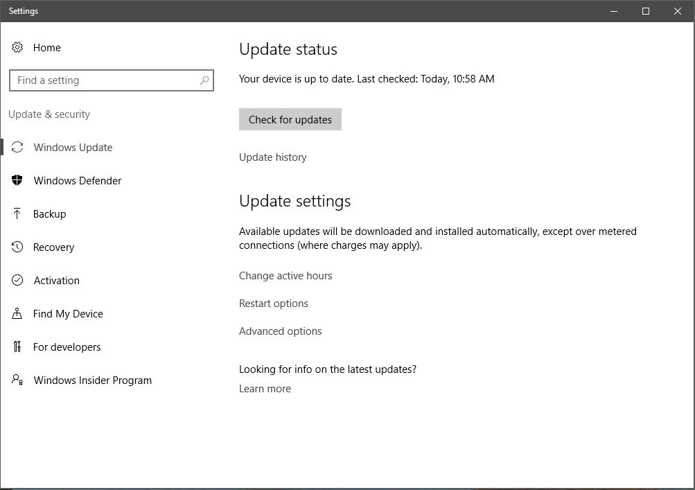 turn off updates in windows 10