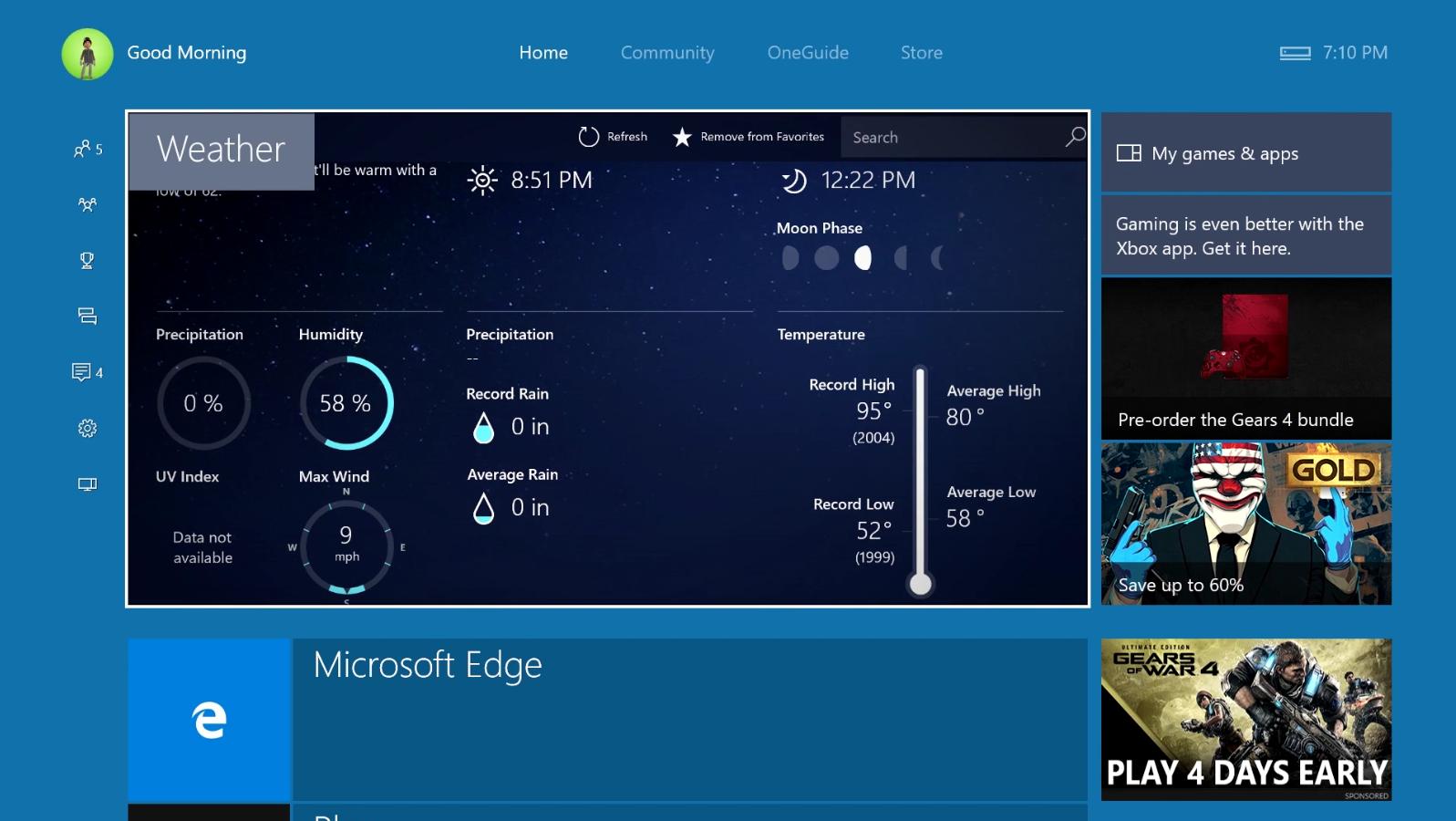 MSN Weather Xbox