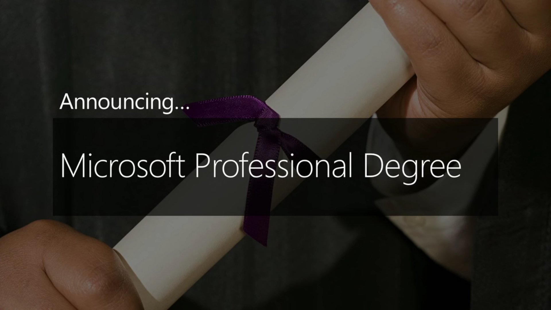 Microsoft Professional Degree