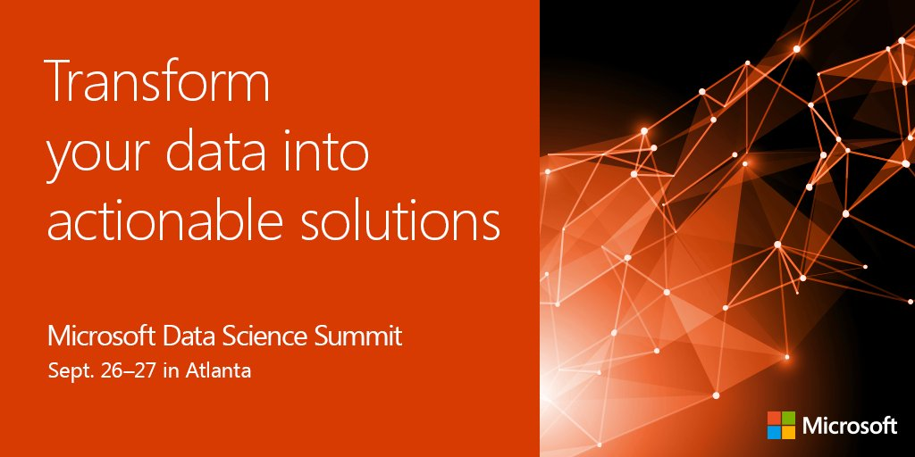 Microsoft data science summit