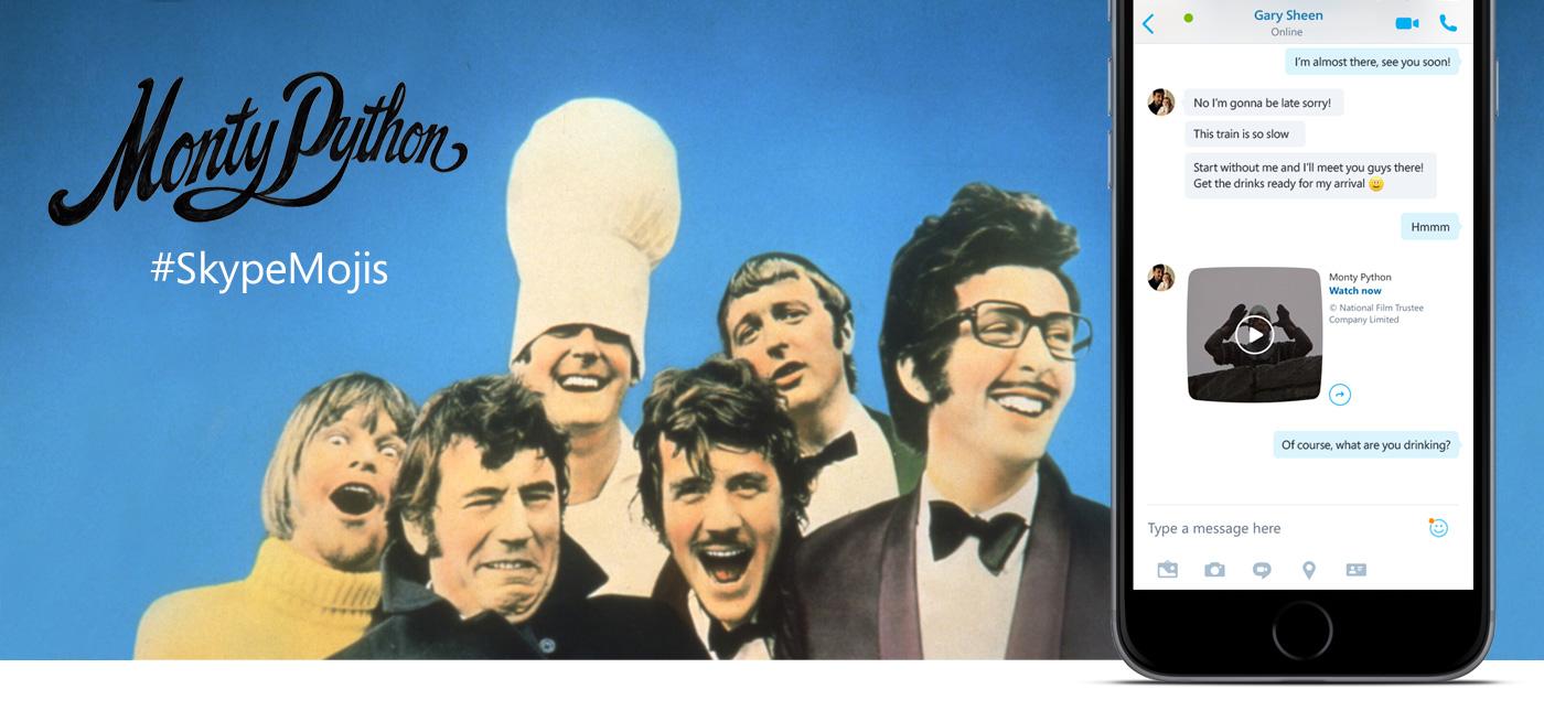 Monty Python Skype Mojis