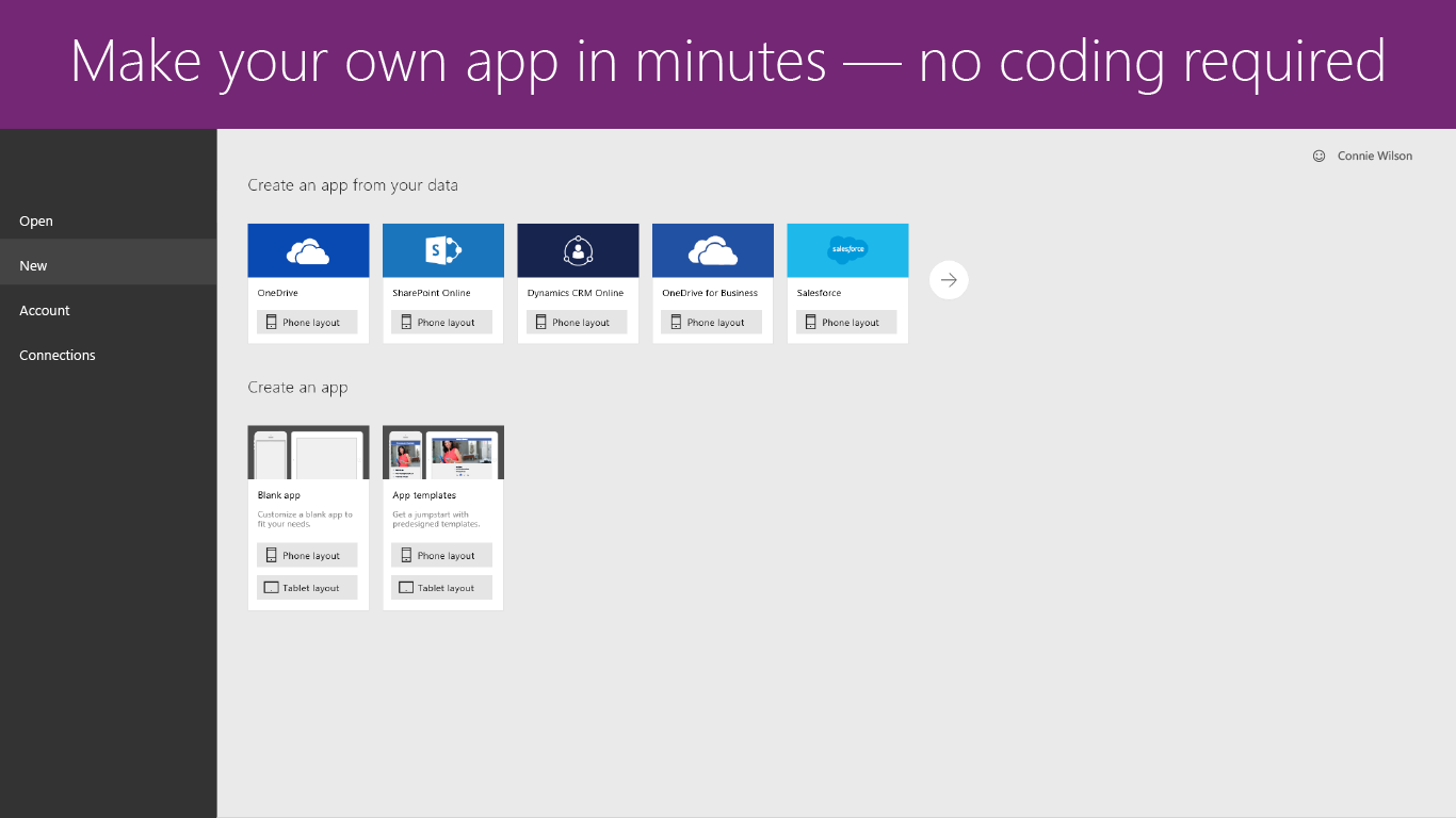 PowerApps Windows Store