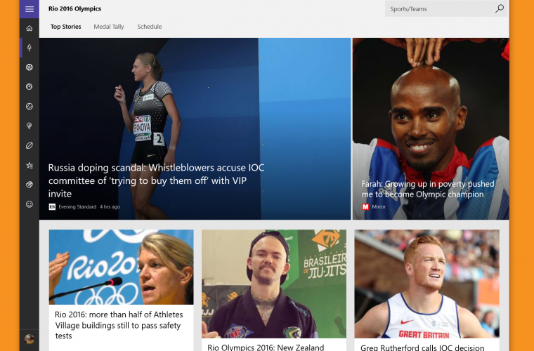 MSN Sports for Windows updated with Rio 2016 addition 16