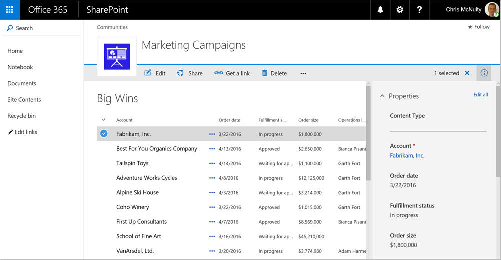 Microsoft Announces The Rollout Of New Sharepoint Lists