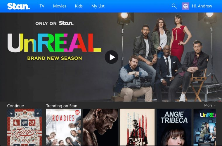 Official Stan video streaming app now available for Windows 10 devices 12