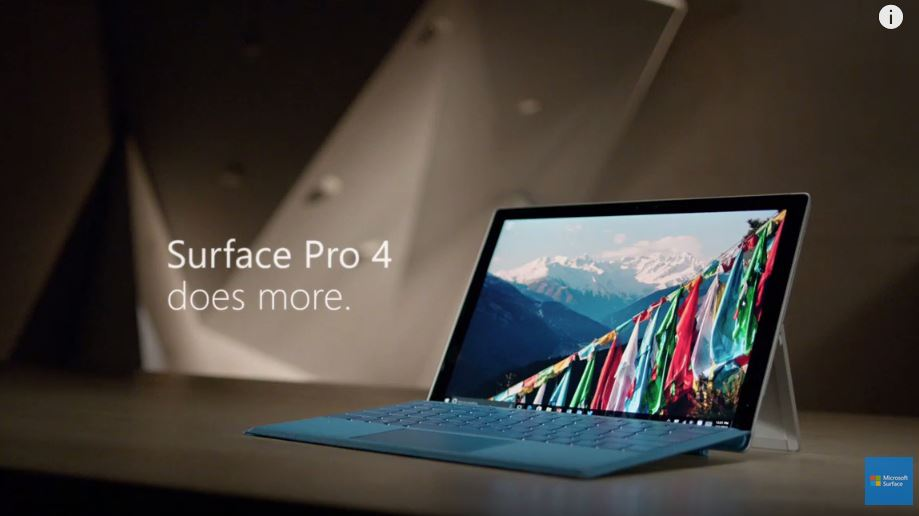 Microsoft Releases New Surface Pro 4 Promo Videos