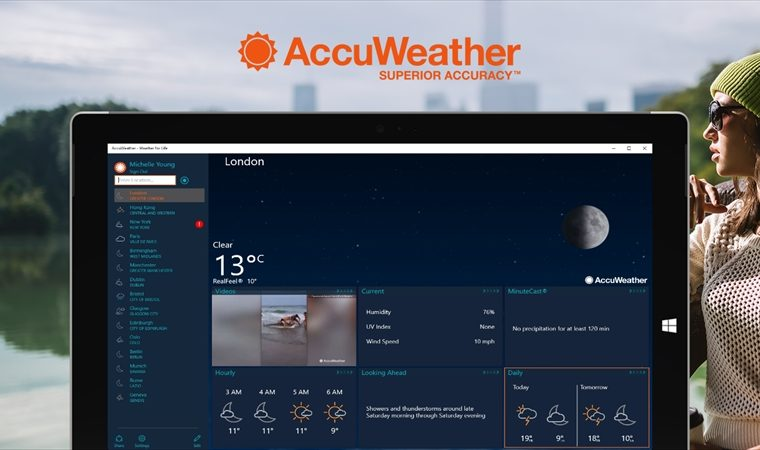 AccuWeather's Windows 10 app updated with Design Improvements 4