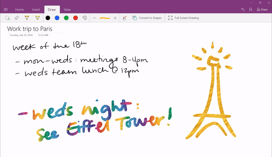Onenote Gets New Ink Effects On Windows 10 Mspoweruser