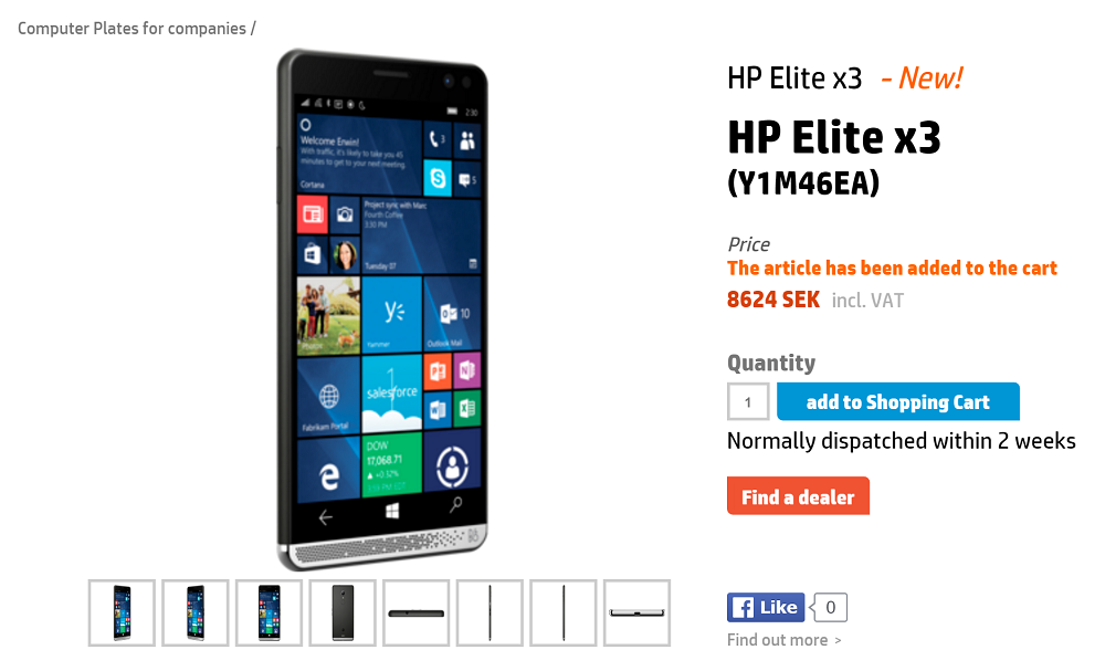 hp elite x3 on sale