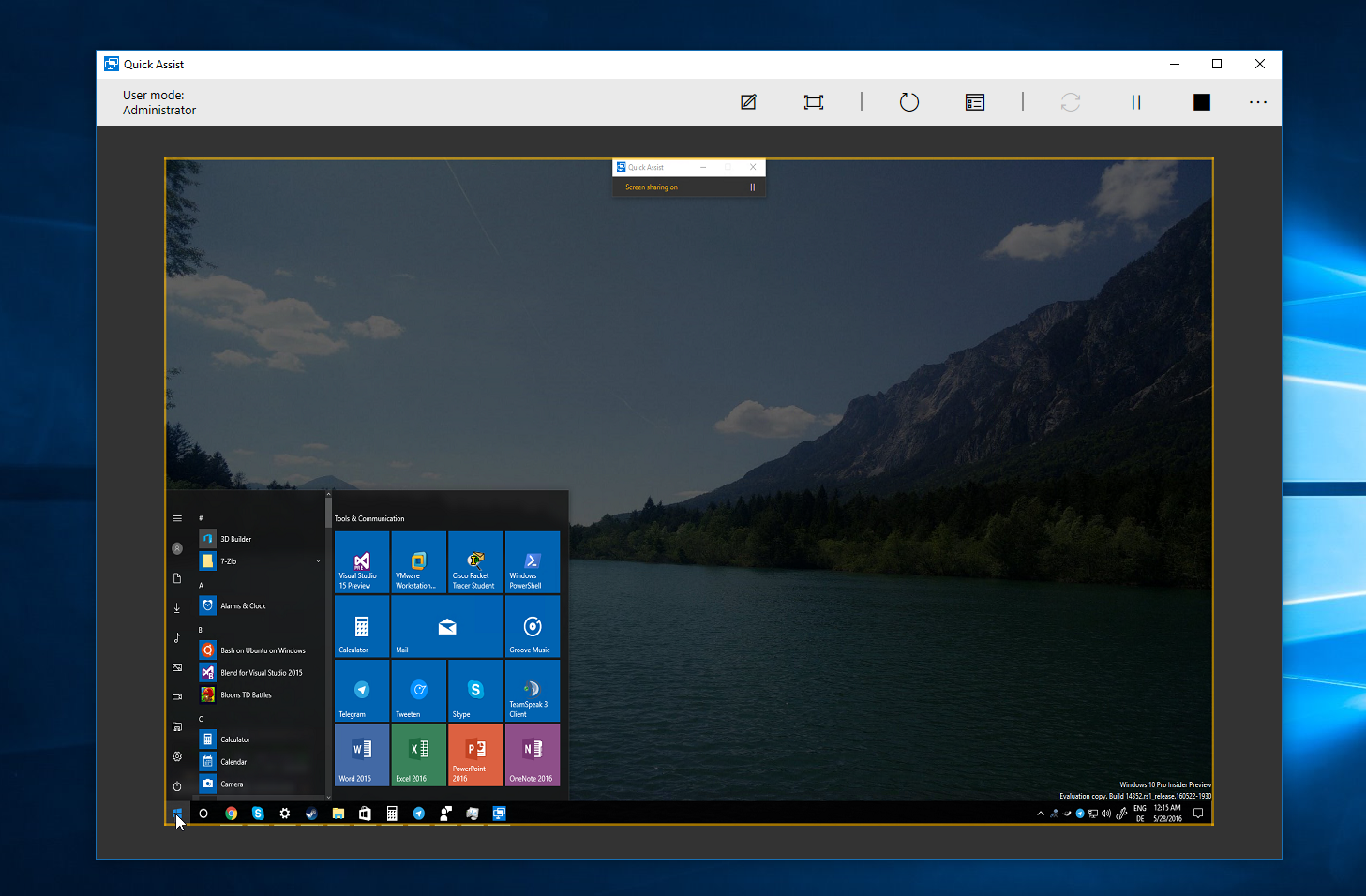 Microsoft demos new Quick Assist Remote Desktop feature in