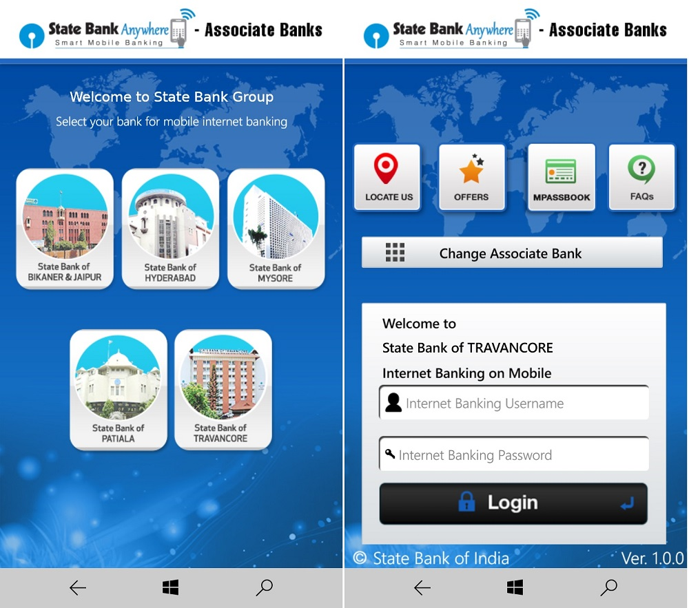 mobile banking sbi login