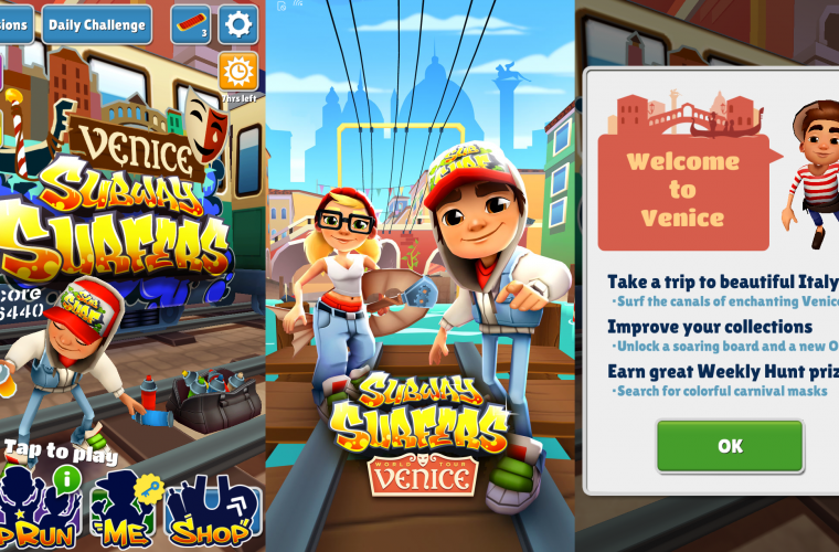 Subway Surfers comes to Venice with the new update 2