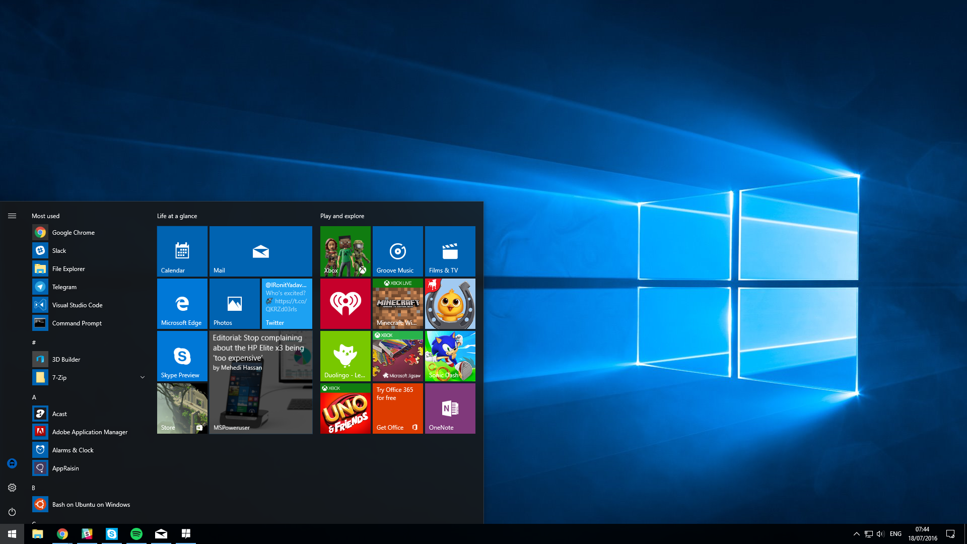 releases Windows 10 Anniversary Update39;s RTM to Insiders  MSPoweruser