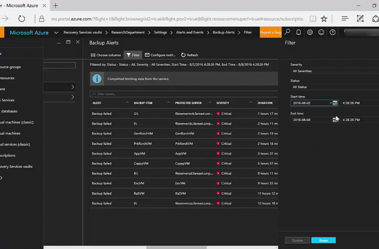 Azure Alerting and Monitoring Preview Released 4