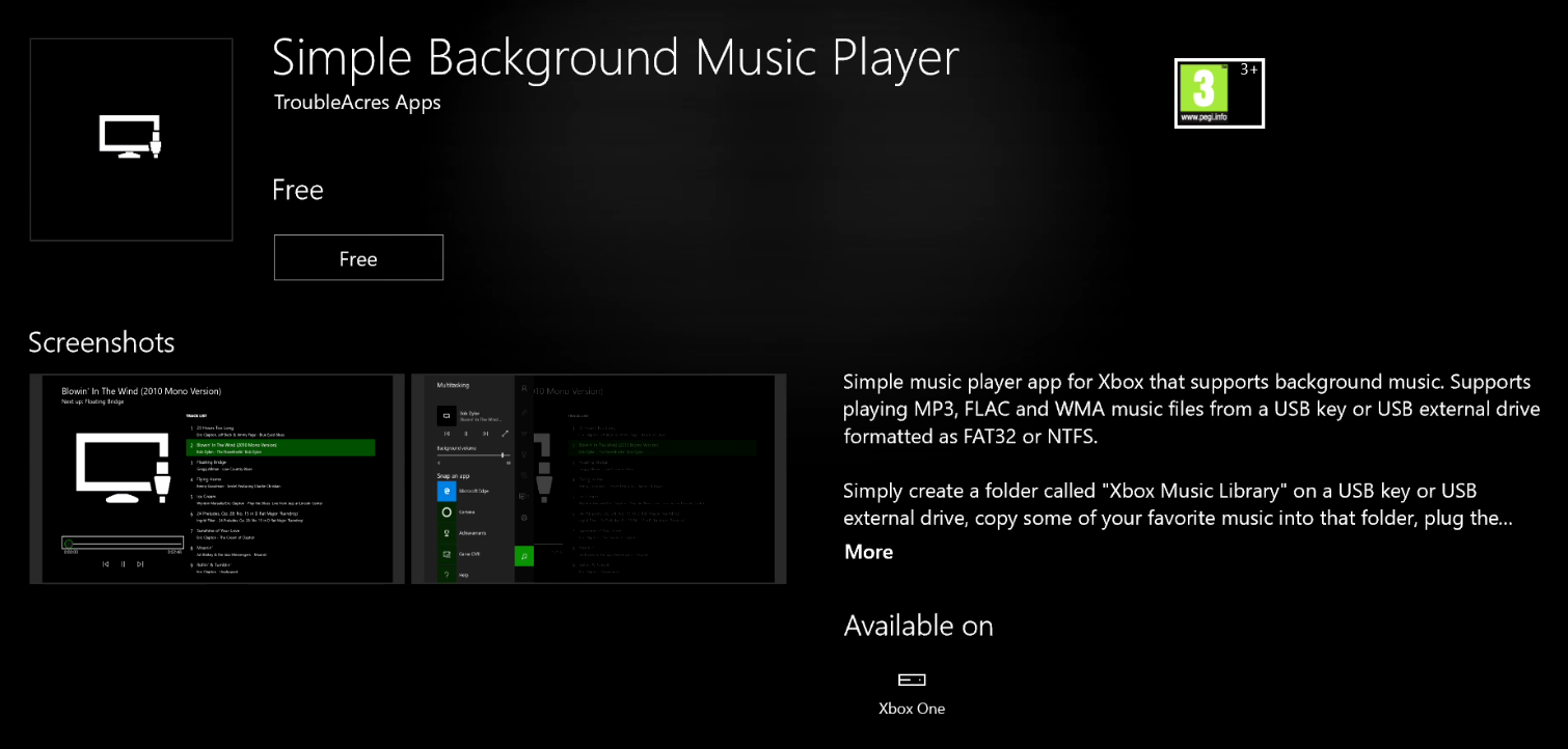 Xbox One users can now play music from USB in background