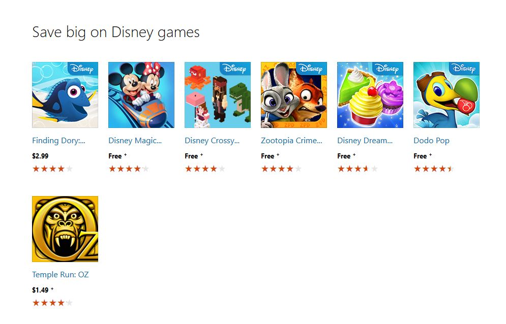 Disney Collection Windows store