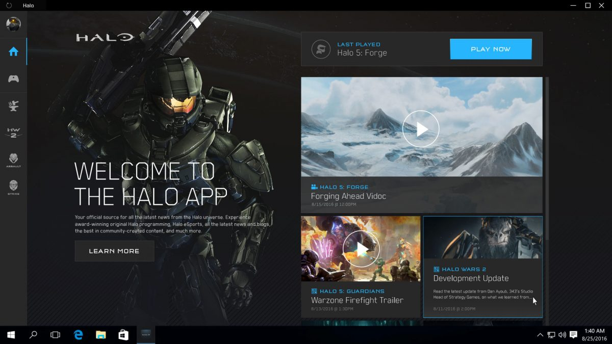 Halo Windows App
