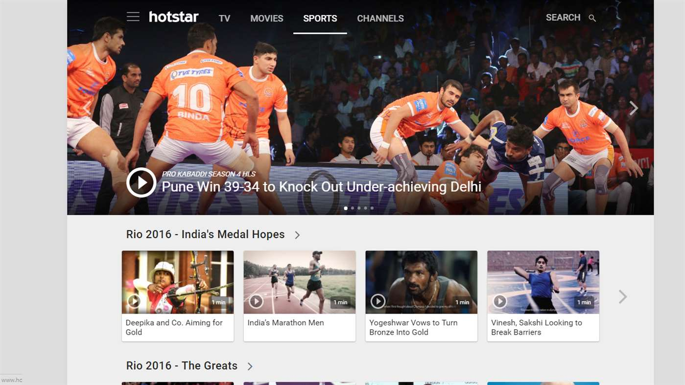 Hotstar TV app now available for Windows 10 devices