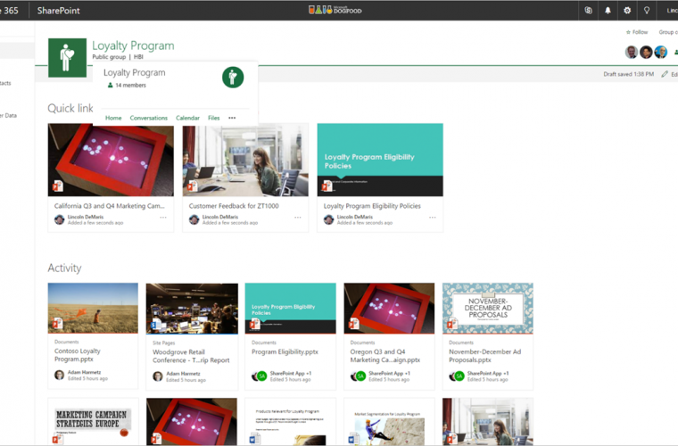 Microsoft announces Office 365 Groups integration on SharePoint Online team sites 16
