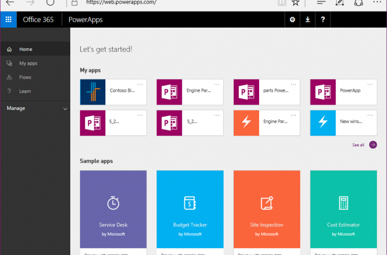Microsoft announces the PowerApps Studio for web preview 15