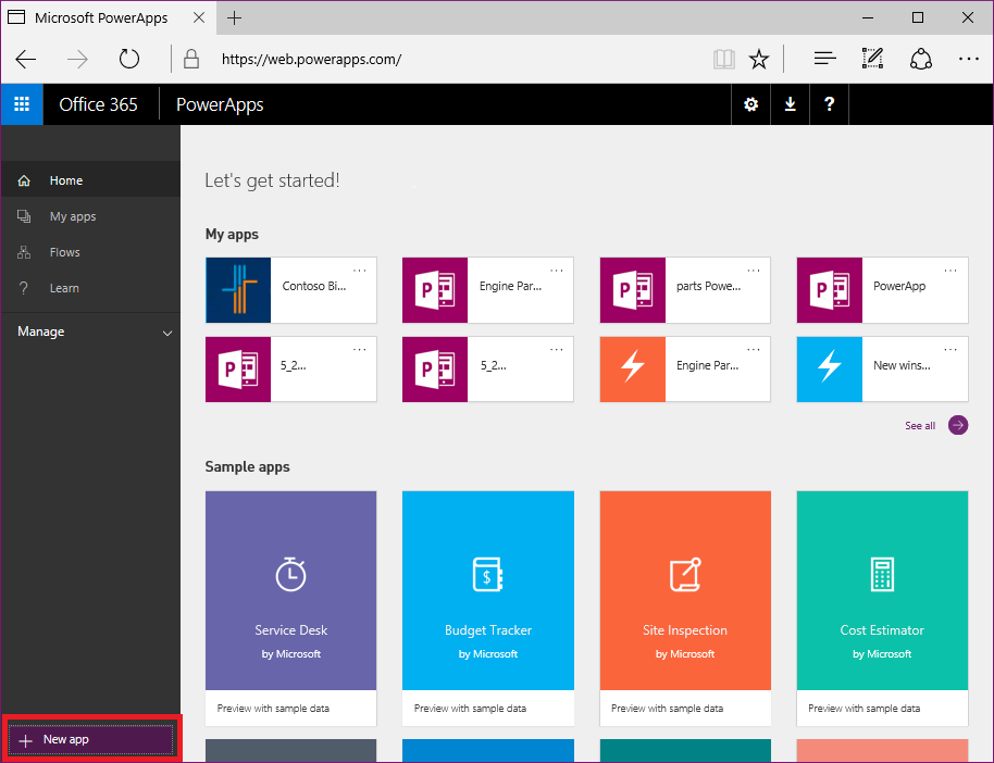 PowerApps Studio for web