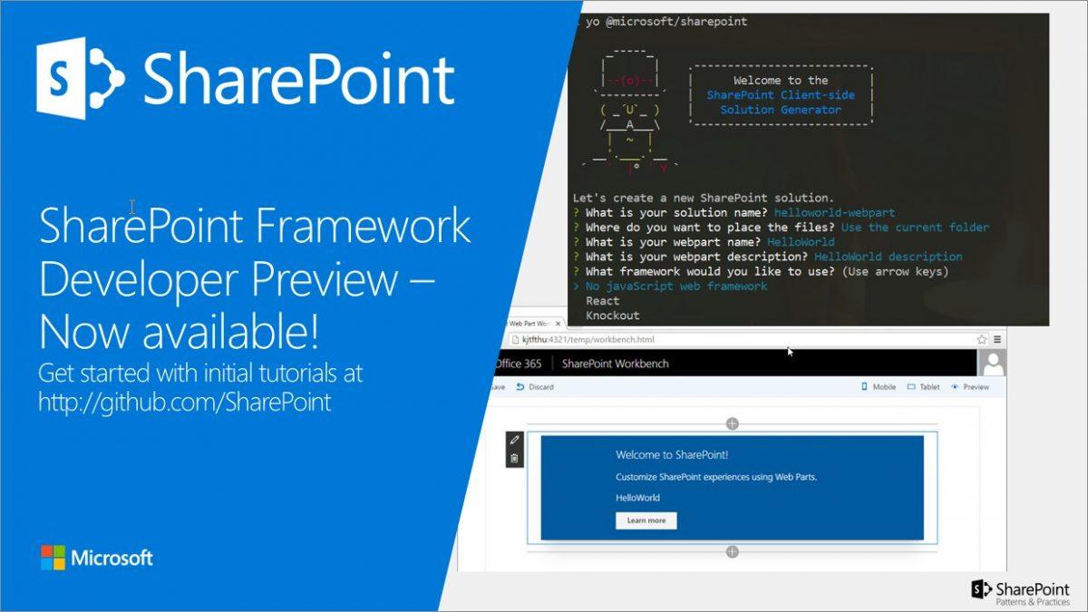 SharePoint Framework Developer Preview