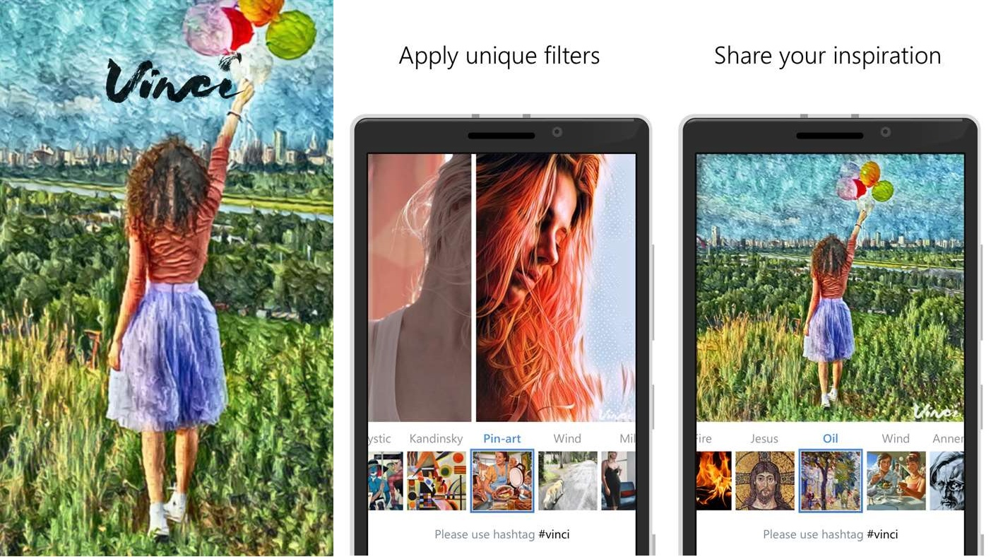 Vinci Windows Store Prisma App