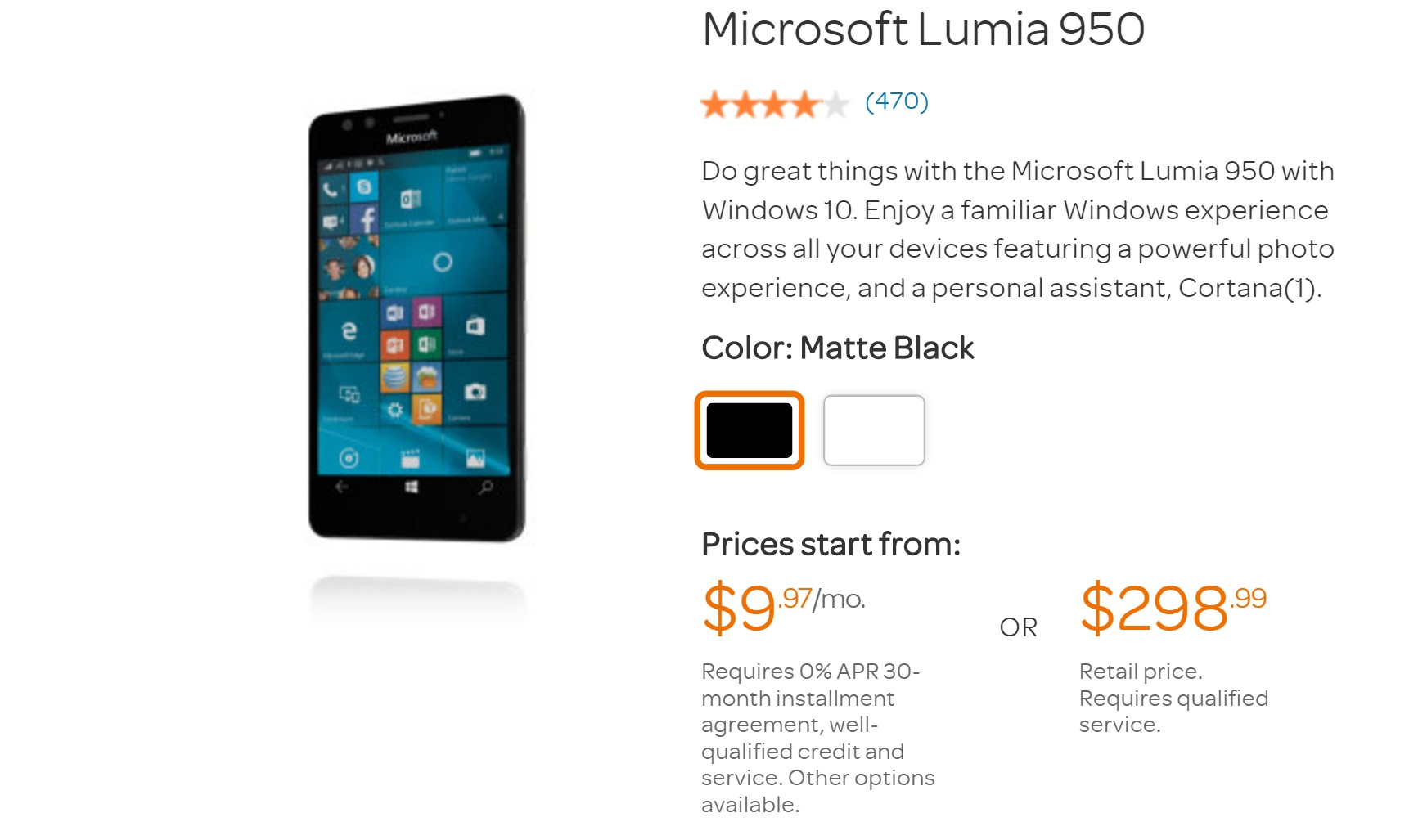 Microsoft Canada discounts Lumia 950XL and Lumia 950 to $649 and $599