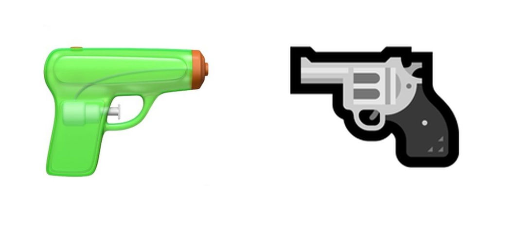 Apple criticized for bringing toy gun to emoji battle ...Text Symbols Copy And Paste Gun