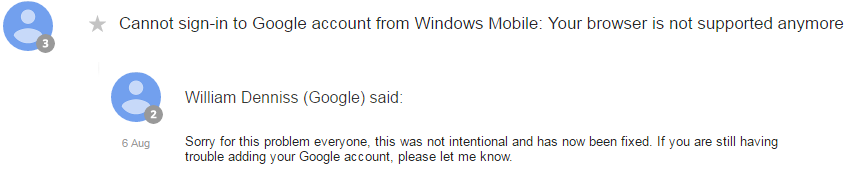 google response