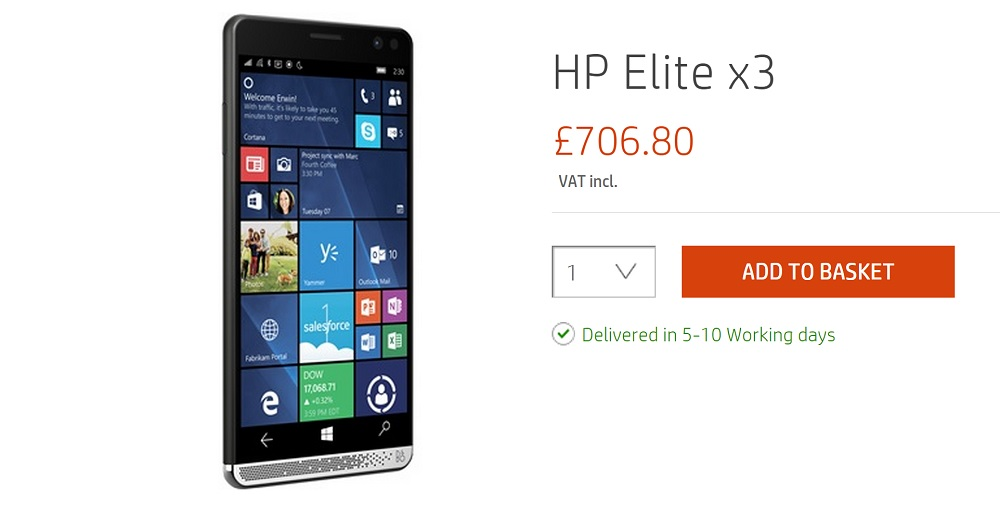 hp elite x3 uk
