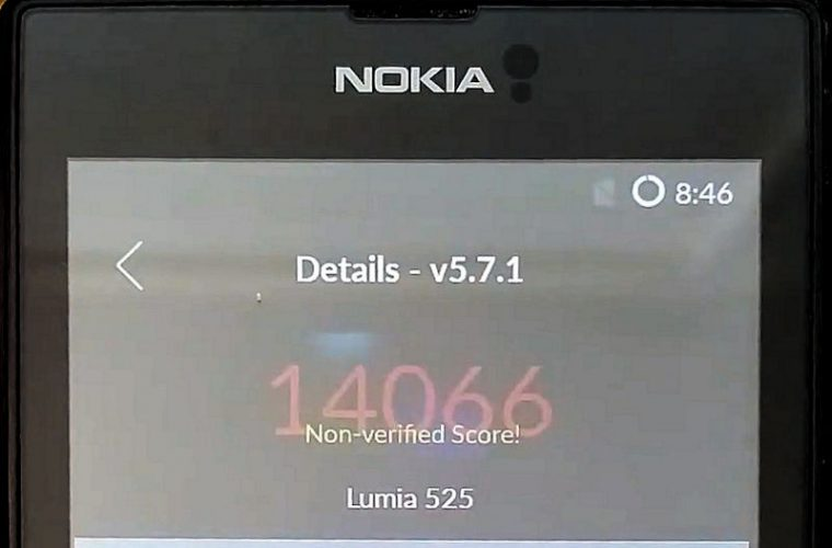 See the Antutu benchmark running on the Android Marshmallow Lumia 525 (video) 1