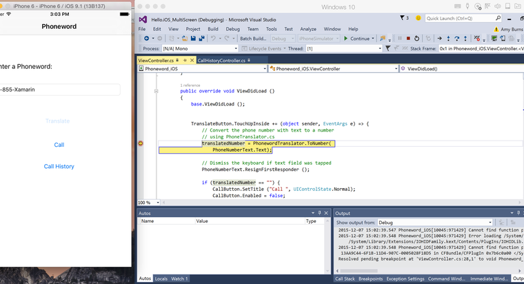 Third preview of the iOS Simulator for Xamarin for Visual Studio available for download 7