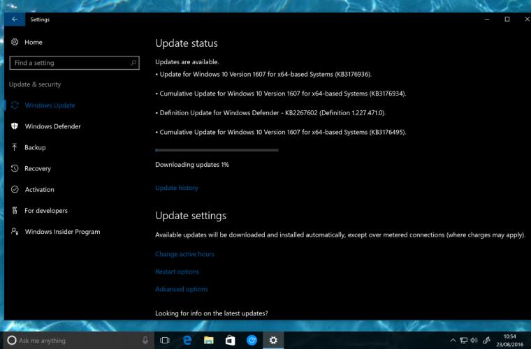 Windows 10 Anniversary Update gets a new cumulative update 13