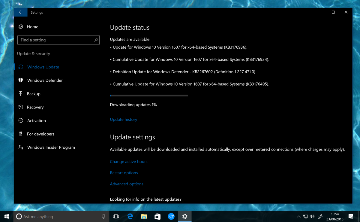 Windows 10 Anniversary Update gets a new cumulative update ...