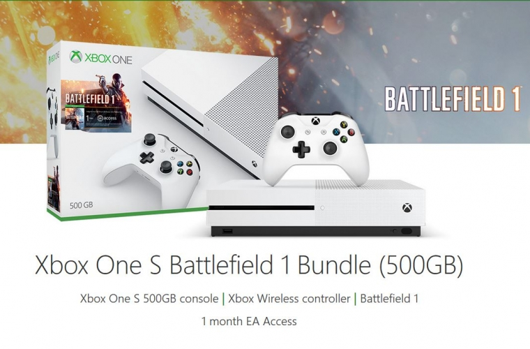 Deal: Get the 500 GB Xbox One S Battlefield 1 Bundle for $189 14