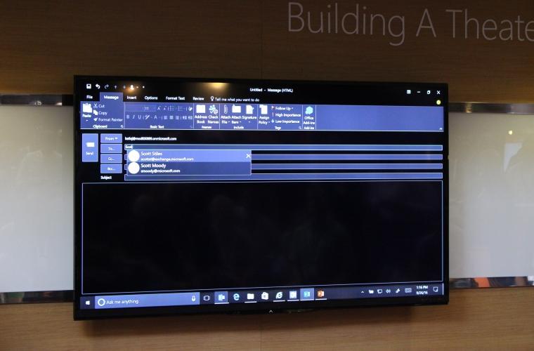 Outlook 2016 Is Getting Darker On Windows 9