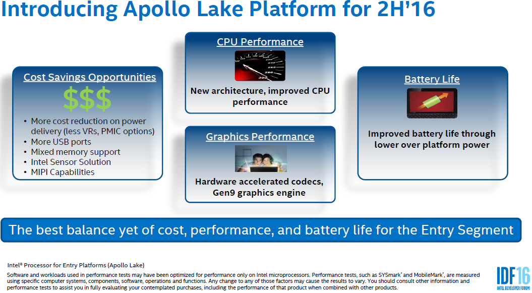 Intel Apollo Lake Processor