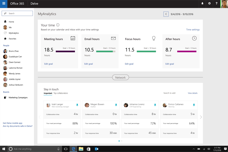 Is My Internet Working >> Microsoft renames Delve Analytics to MyAnalytics, announces new features - MSPoweruser
