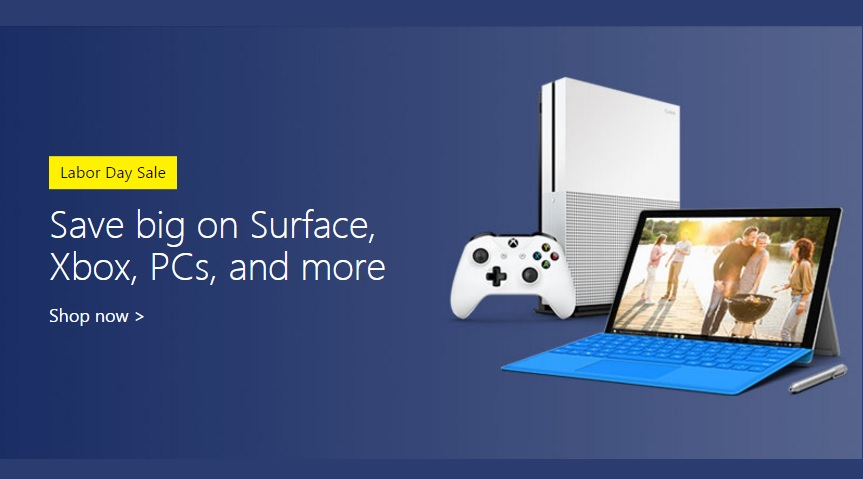 Microsoft Store Labor day sale