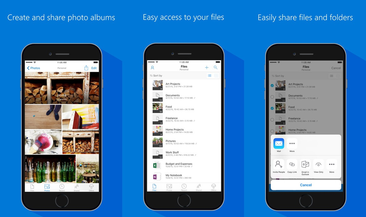 Latest OneDrive for iOS update prevents accidental drag and drop