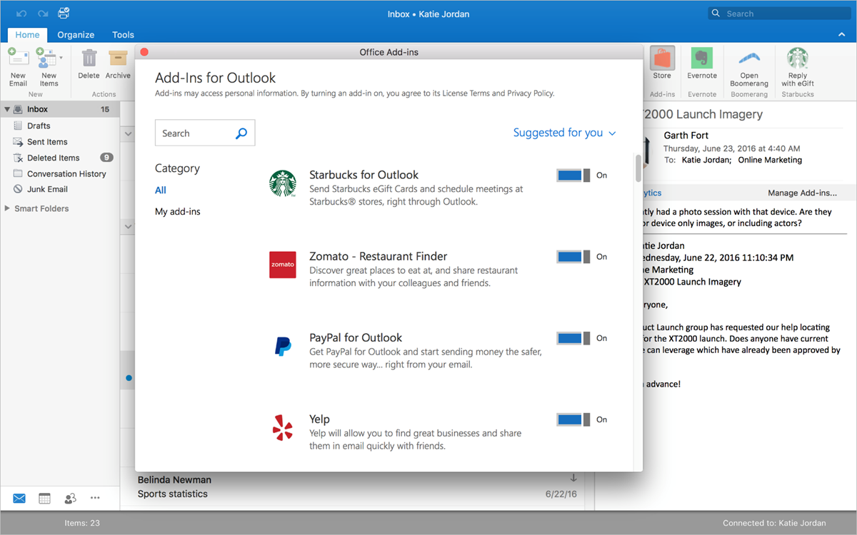 Microsoft brings add-ins to Outlook for Mac 2016 - MSPoweruser